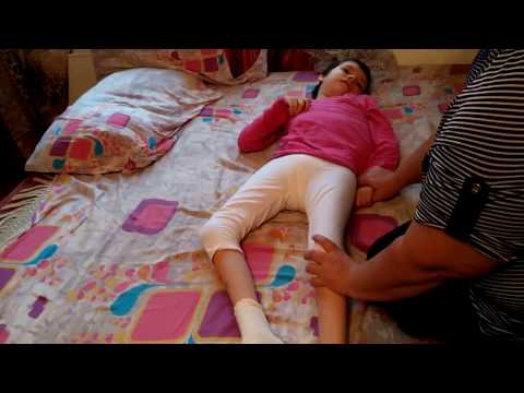 Double hemiplegia, atonic-astatic cerebral palsy, Dasha, after 6