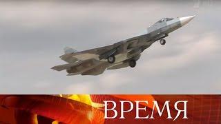 Над базой Хмеймим в Сирии Су-57 - новейшие истребители с фантастическими возможностями.