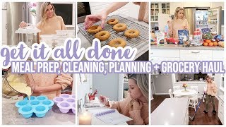 *NEW*GET IT ALL DONE // MEAL PREP, COOK WITH ME, CLEAN WITH ME,PLAN WITH HAPPY PLANNER,+GROCERY HAUL
