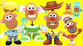 Toy Story 4 Andy's Playroom Mr. Potato Head Pack Mix and Match Buzz Lightyear, Bo Peep & Woody