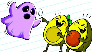 Vegetables Laughing At Ghost - Cartoons