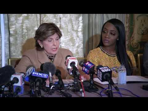 Attorney Gloria Allred held a press conference in New York in response to threats allegedly made by R&B artist R. Kelly to Faith Rodgers who said she had a relationship with Kelly when she was 19-years old. (Jan. 14)