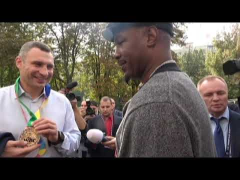 Vitali Klitschko & Lennox Lewis Once Bitter Rivals Now Best Friends
