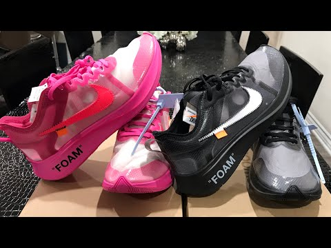 7fadc2dd8cfe Off White Nike Zoom Fly Comparison - Black vs Pink + Black Review! - EDS  kicks