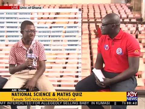 National Science And Maths Quiz - AM Show on JoyNews (26-6-18)