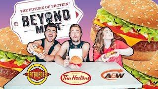 Beyond Burger Fast Food Taste Test (Vegan, Vegetarian, and Meat Eater) | Canada Edition