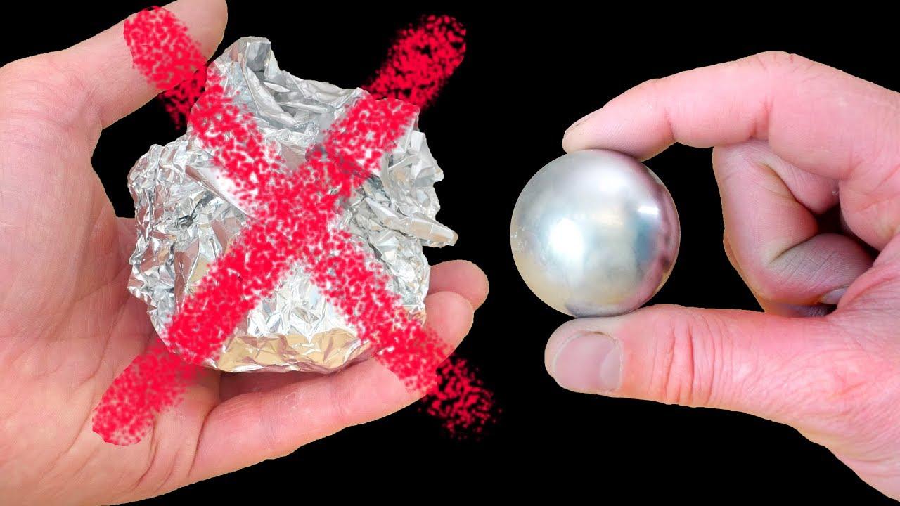 How to Make a Metal Ball - Gallium Not Foil! thumbnail