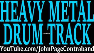 Basic Heavy Metal Drum Backing Track DRUMS ONLY 120 bpm