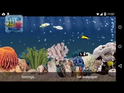 Vídeo do Aquário 3D fundos