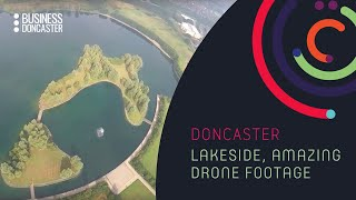 Drone footage of the lake by Business Doncaster