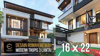 Video Desain Rumah Modern Industrial 3 Lantai Bapak Ben di  Jakarta