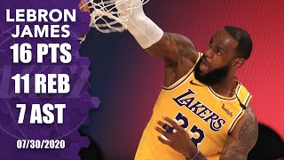 LeBron James Comes Up Clutch, Posts Double-double In Lakers Vs. Clippers | 2019-20 NBA Highlights