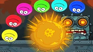 Red Ball 4 - Gameplay Walkthrough Part 2 - Box Factory All Levels With Boss Fight
