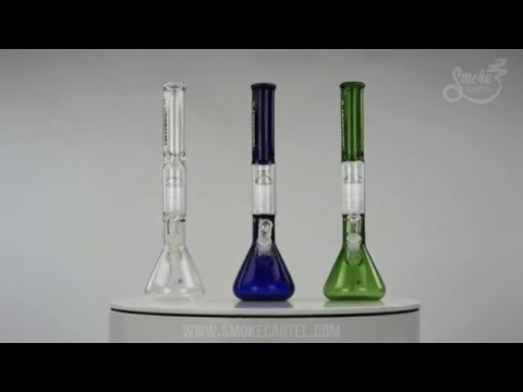 UPC Tall and Thick 10-Arm Tree Perc Beaker with Removable Downstem on Youtube