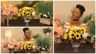 DIY Dollar Tree: 3 Spring Floral Arrangements 🌻🌼🌺 Mothers Day | Wedding | Home | Chanelle Novosey
