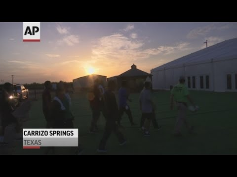 A former oilfield worker camp off a dirt road in rural Texas has become the U.S. government's newest facility for detaining immigrant children after they leave Border Patrol stations, where complaints of overcrowding and filthy conditions have sparked a worldwide outcry. (July 10)