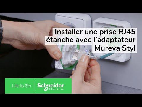 Mureva Styl - Adaptateur pour fonction 45X45 - composable - IP55 - IK07 - gris
