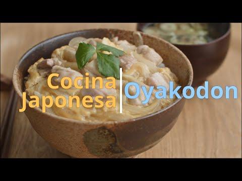 Cocina Japonesa 🇯🇵Cuenco de Arroz Con Pollo y Huevo, Oyako-Don 🇯🇵Comida Japonesa Típica