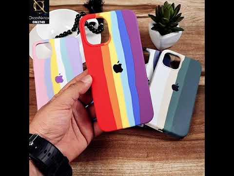 iPhone XS / X Cover - Blue - Rainbow Series Liquid Soft Silicon Case