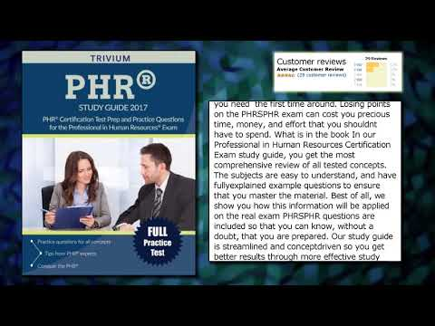 PHR Study Guide 2017: PHR Certification Test Prep and Practice ...