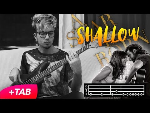 Shallow - Lady Gaga, Bradley Cooper (Bass Cover with TAB in Video)