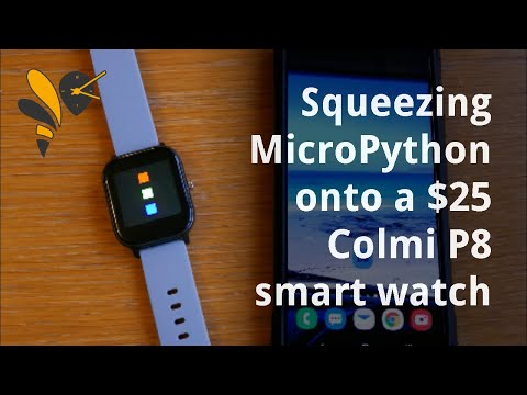 Installing MicroPython on a Colmi P8 smart watch using DaFlasher