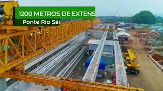 Nova Entrada de Santos - Nova ponte sobre o Rio São Jorge terá mais de 1 km de extensão