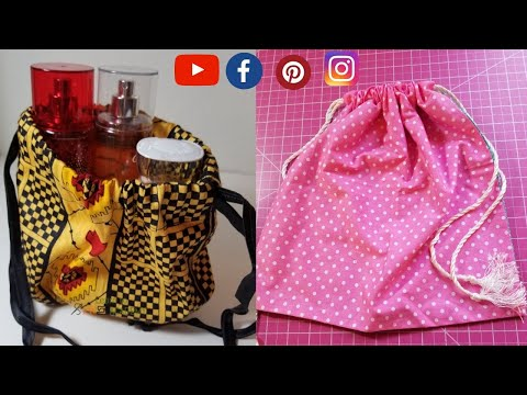 How to Make a Drawstring Bag / Gift Bag. EASY DIY PROJECT
