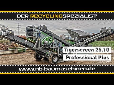 Flachdecksiebanlage - 3 Fraktionen Tiger Screen 25.10 Professional Plus