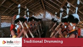 Traditional drumming of Chang tribe, Nagaland
