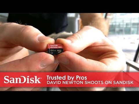 Trusted by Pros: professional photographer David Newton shoots on SanDisk microSD