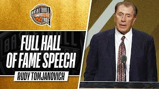 Rudy Tomjanovich | Hall of Fame Enshrinement Speech