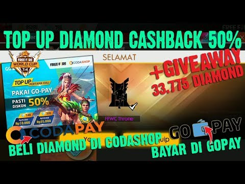 CARA TOP UP DIAMOND FREE FIRE PAKAI GO-PAY DI CODASHOP - FREE FIRE INDONESIA