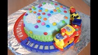 Theme Toy Train Cake Easy Design