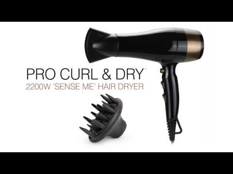 Pro Curl and Dry 2200W 'Sense Me' Hair Dryer