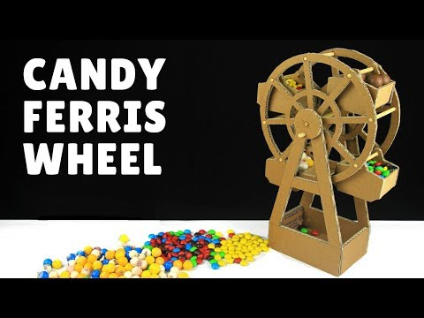 How to make Candy Ferris Wheel for party - Just5mins