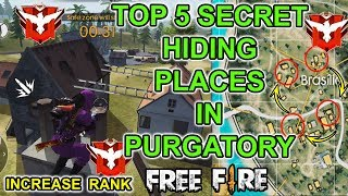 Free Fire Top 5 Hiding Places In Purgatory Map Tricks Tamil