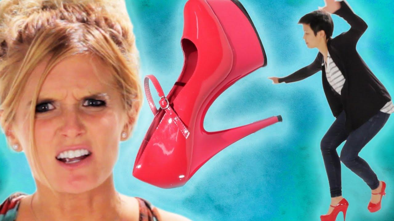 Women Wear Stilettos For The First Time thumbnail