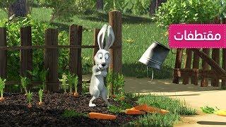 ماشا والدب. لقطات طريفة🤣قبعة الإخفاء - أرنب ، ورمي الجزر🧢👱♀️ (الحلقة  41)