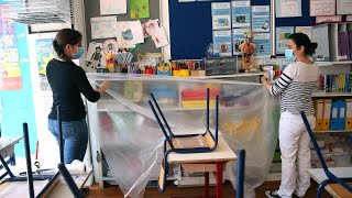 video: Pictured: The incredible changes to English classrooms so children can go back to school