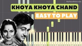 Khoya Khoya Chand - Piano Tutorial with Notes   - YouTube