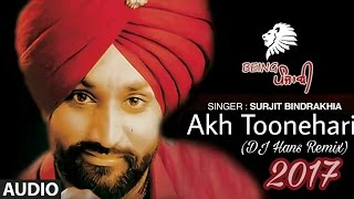 Akh Toonehari  Surjit Bindrakhia Remix  DJ Hans  Bindrakhia Punjabi Songs  New Punjabi Remix