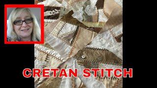 Crazy Quilt Friday~ Practicing The CRETAN STITCH~ Embroidery ~ DancesWithPitBulls ~