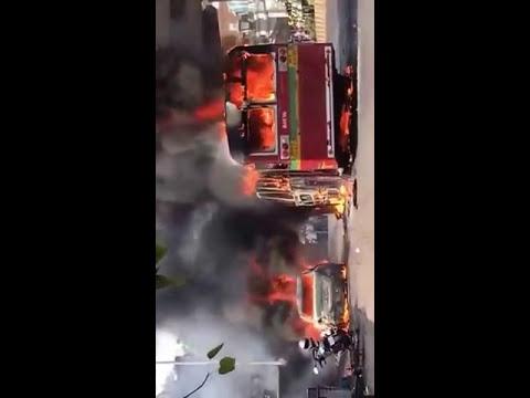 मुंबई के बेस्ट बस में लगी आग