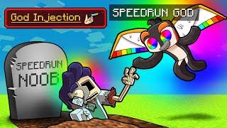 Noob vs God Manhunt SCRAMBLE CRAFT! (Speedrunner vs Hunter)