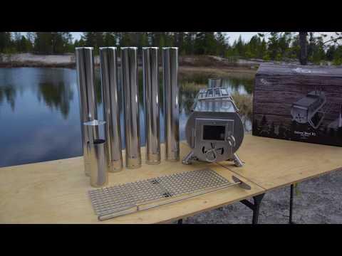 Обзор норвежской походной печи Gstove Heat View XL Camping Stove
