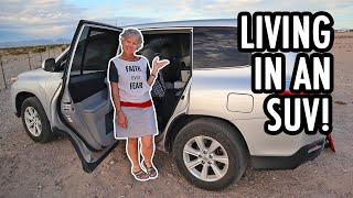 How to Live Full-time in an SUV! (Toyota Highlander Camper Tour)