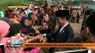 Jokowi Rayakan Idul Adha Bersama Warga Sukabumi