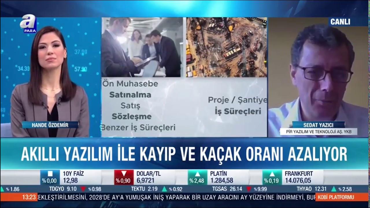"""PİR Yazılım ve Teknoloji AŞ. YKB Sedat Yazıcı, A Para """"KOBİ Platformu"""" Programına Konuk Oldu"""