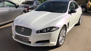 Оклейка авто Ягуар ⚪ в пленку KPMF «Белый перламутр»